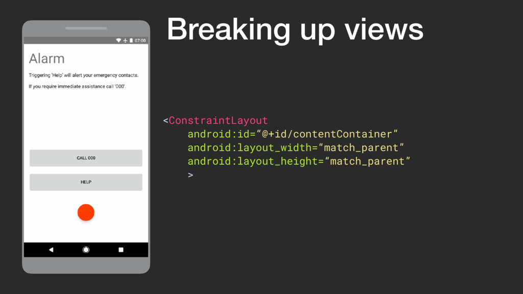 """ViewGroup <ConstraintLayout android:id=""""@+id/co..."""