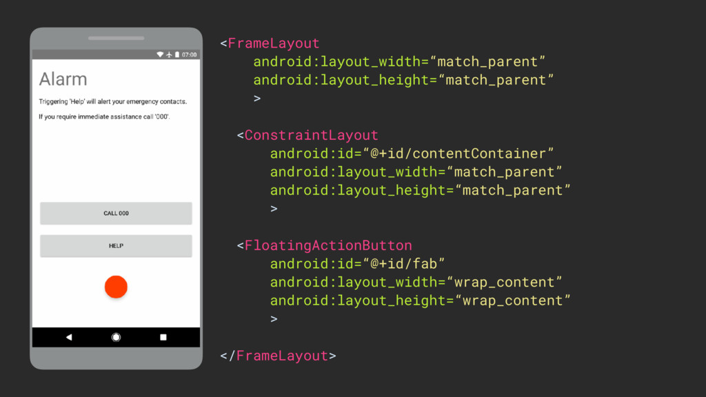 """ViewGroup <FrameLayout android:layout_width=""""ma..."""