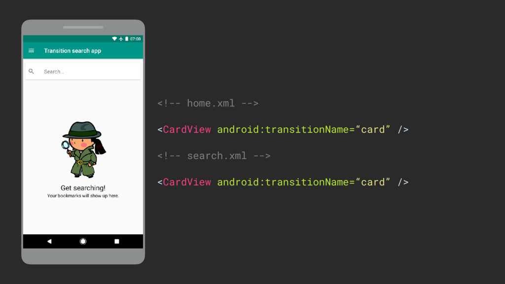 <!-- home.xml -->  <CardView android:transiti...