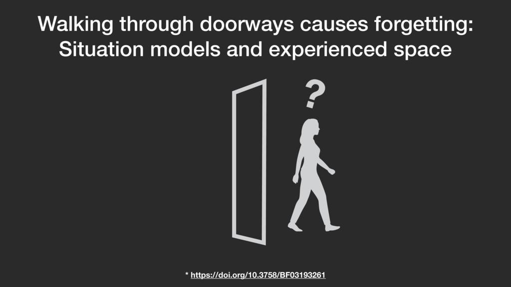 Walking through doorways causes forgetting: Sit...