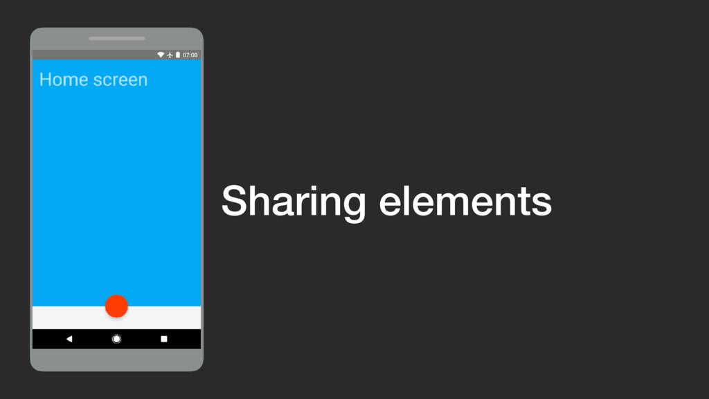 ViewGroup Sharing elements