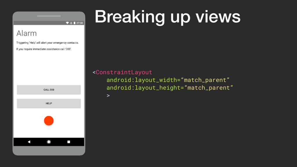 ViewGroup <ConstraintLayout android:layout_widt...