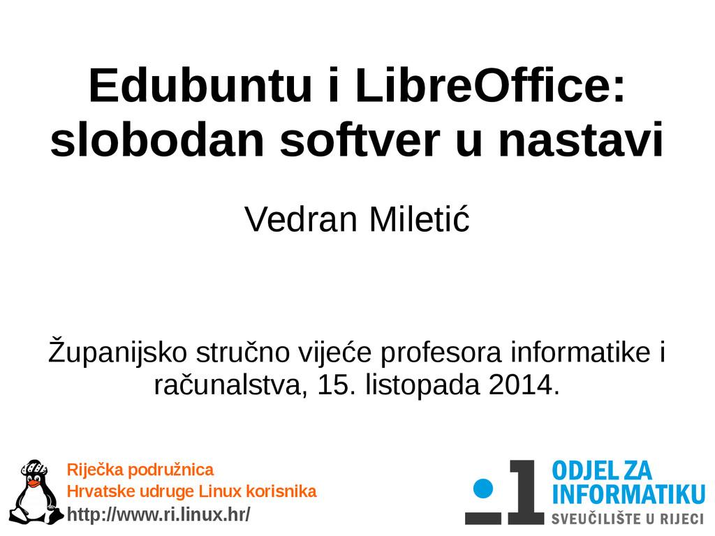 Edubuntu i LibreOffice: slobodan softver u nast...