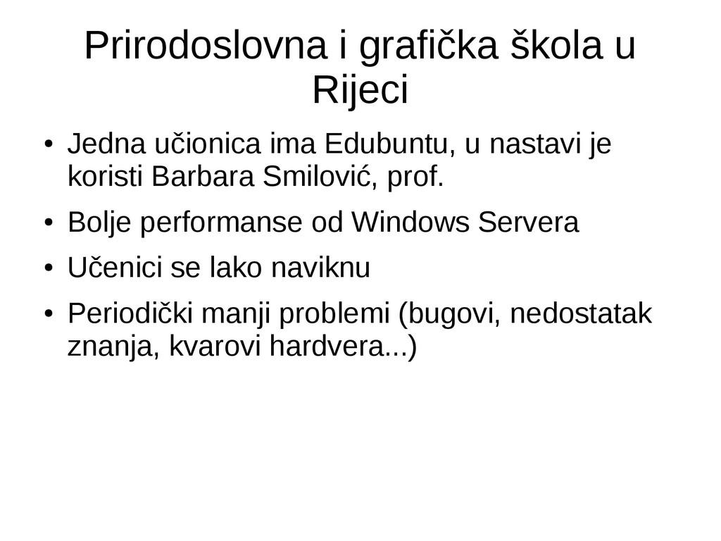 Prirodoslovna i grafička škola u Rijeci ● Jedna...