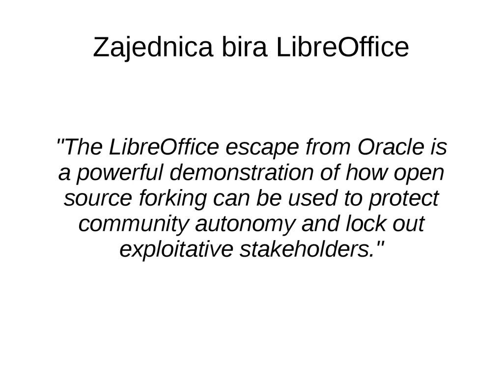 """Zajednica bira LibreOffice """"The LibreOffice esc..."""