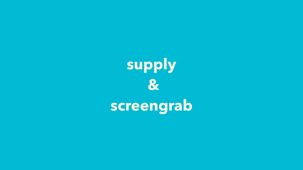 supply & screengrab