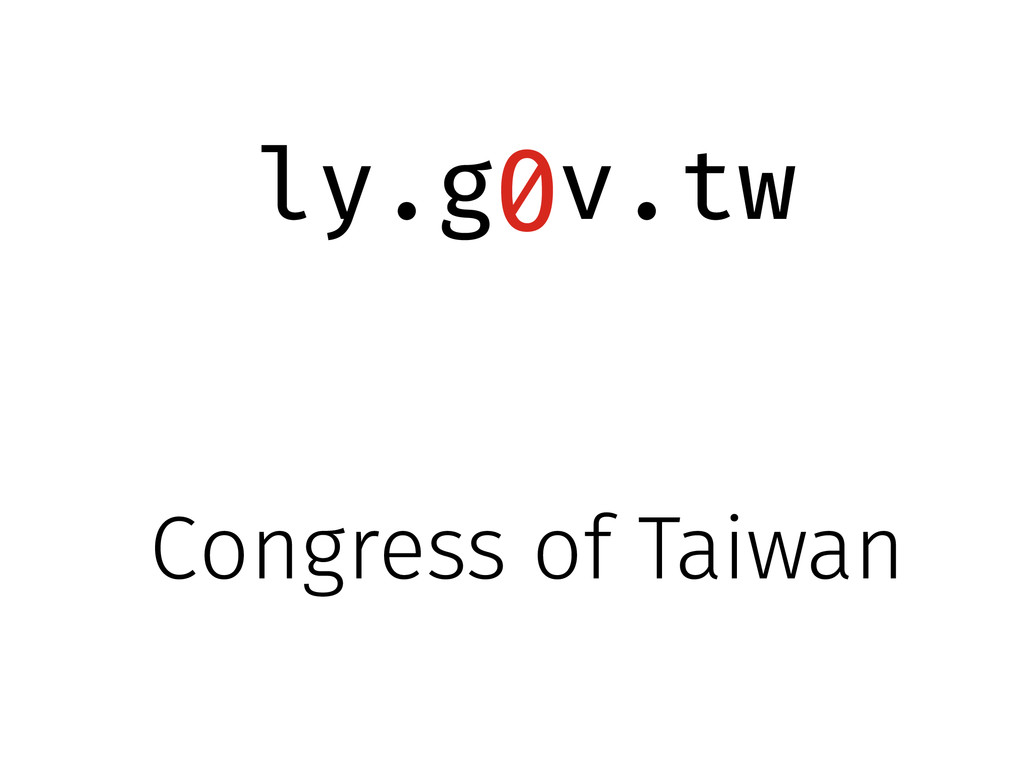 ly.g v.tw 0 Congress of Taiwan