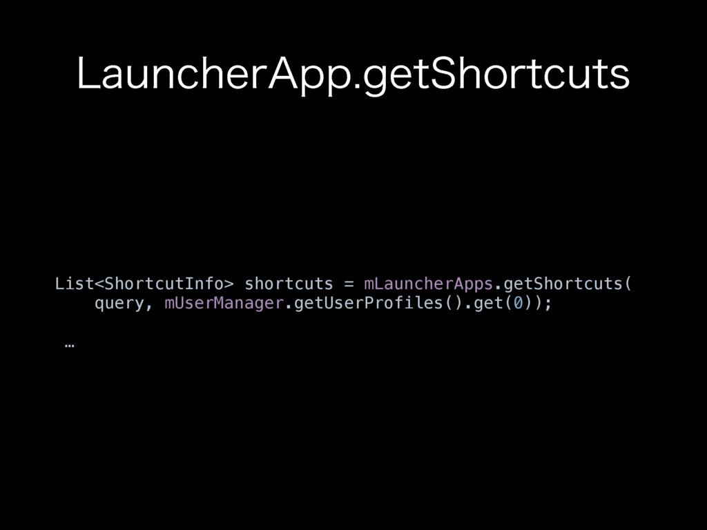 "-BVODIFS""QQHFU4IPSUDVUT List<ShortcutInfo> sho..."