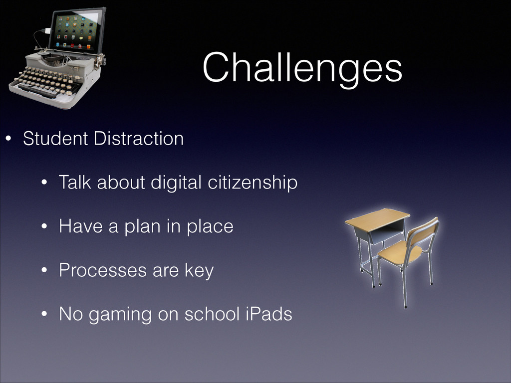 Challenges • Student Distraction • Talk about d...