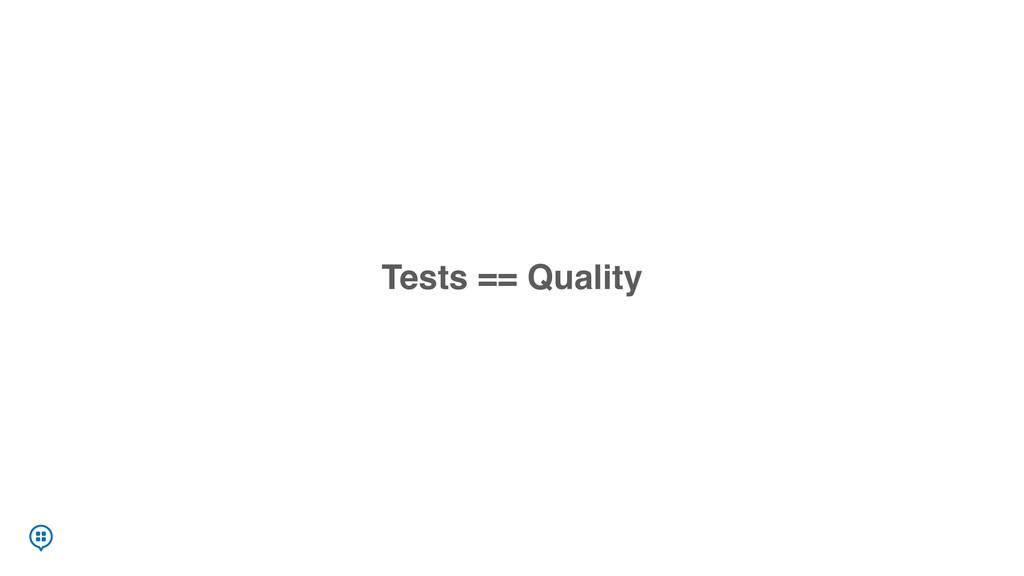 Tests == Quality