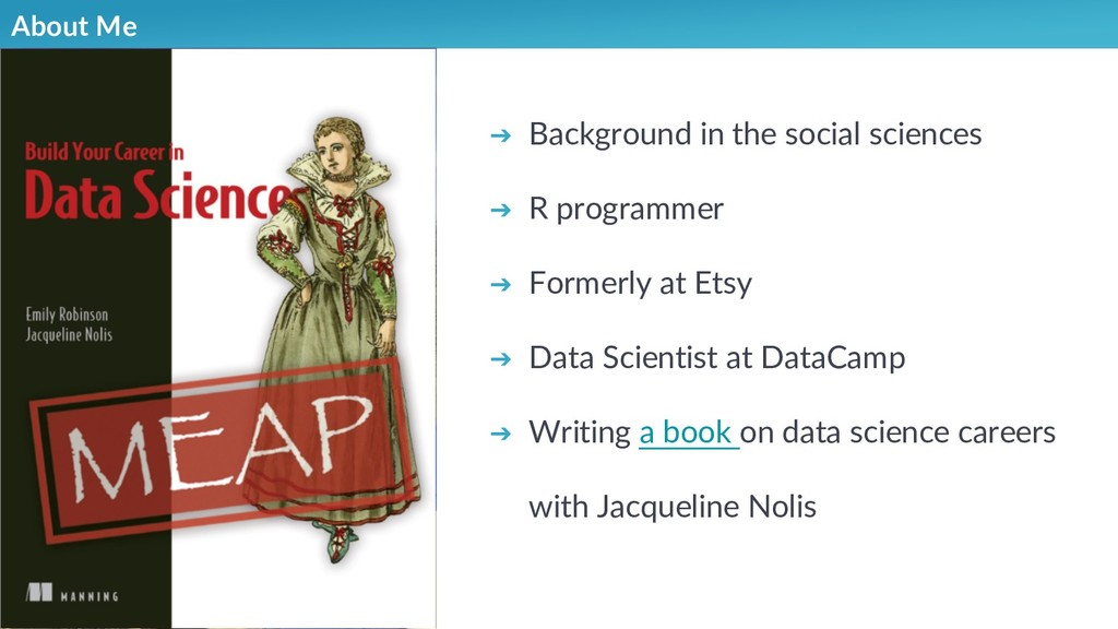 About Me ➔ Background in the social sciences ➔ ...