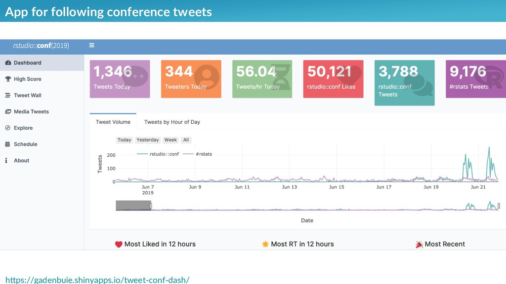 App for following conference tweets https://gad...