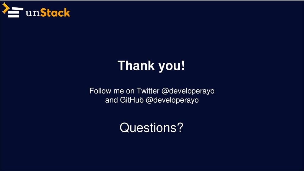 Thank you! Follow me on Twitter @developerayo a...
