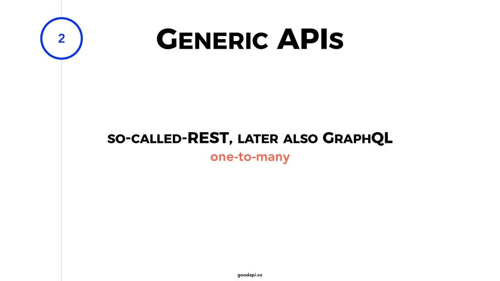goodapi.co GENERIC APIS 2 one-to-many SO-CALLED...