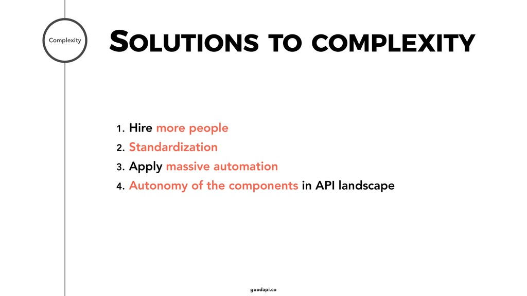 goodapi.co SOLUTIONS TO COMPLEXITY Complexity 1...
