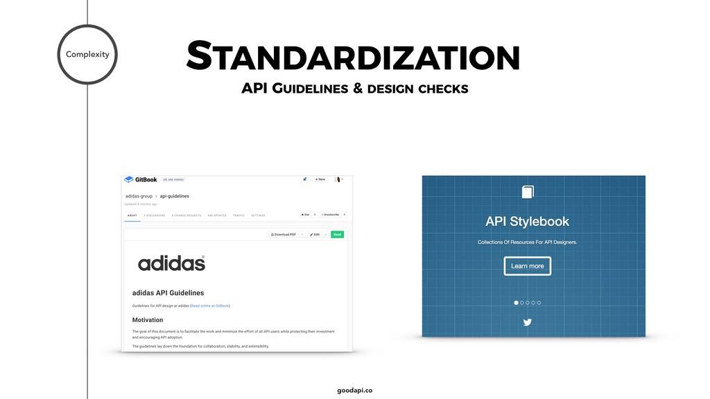 goodapi.co STANDARDIZATION Complexity API GUIDE...