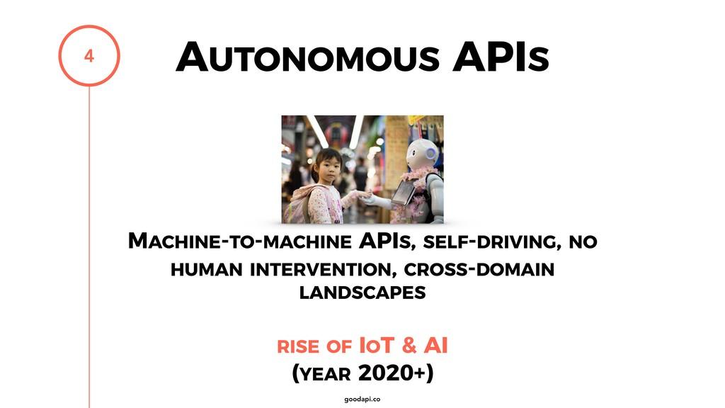 goodapi.co AUTONOMOUS APIS 4 MACHINE-TO-MACHINE...