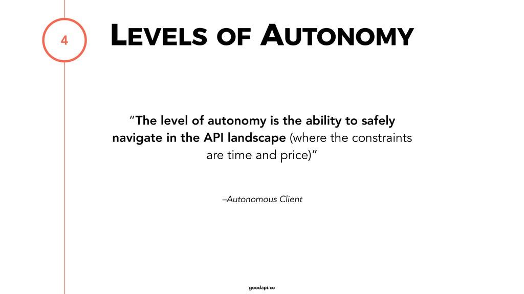 """goodapi.co –Autonomous Client """"The level of aut..."""