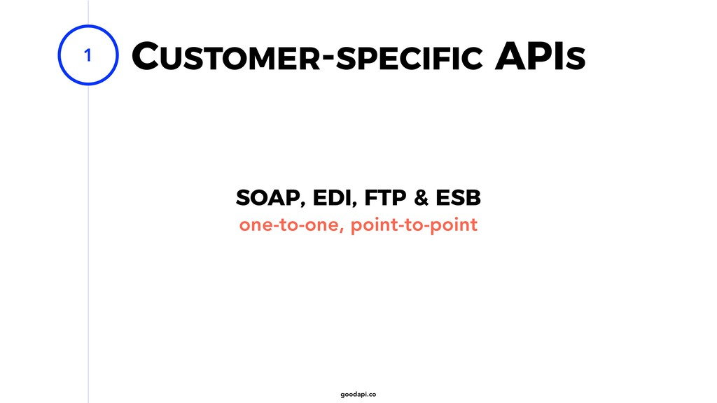 goodapi.co CUSTOMER-SPECIFIC APIS 1 SOAP, EDI, ...