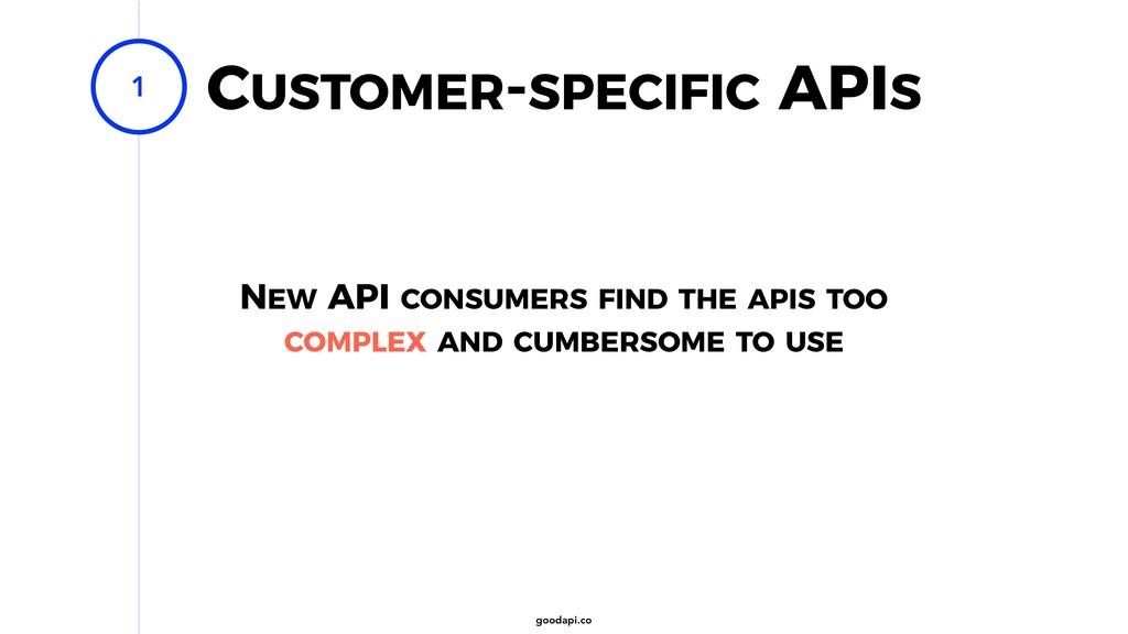 goodapi.co CUSTOMER-SPECIFIC APIS 1 NEW API CON...