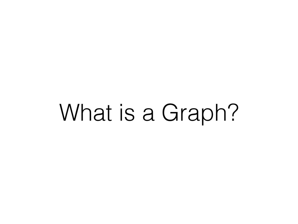 What is a Graph?