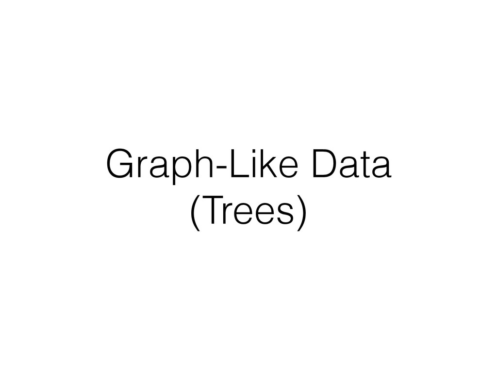 Graph-Like Data (Trees)