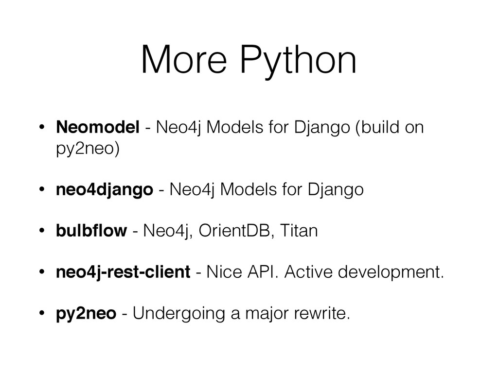 More Python • Neomodel - Neo4j Models for Djang...