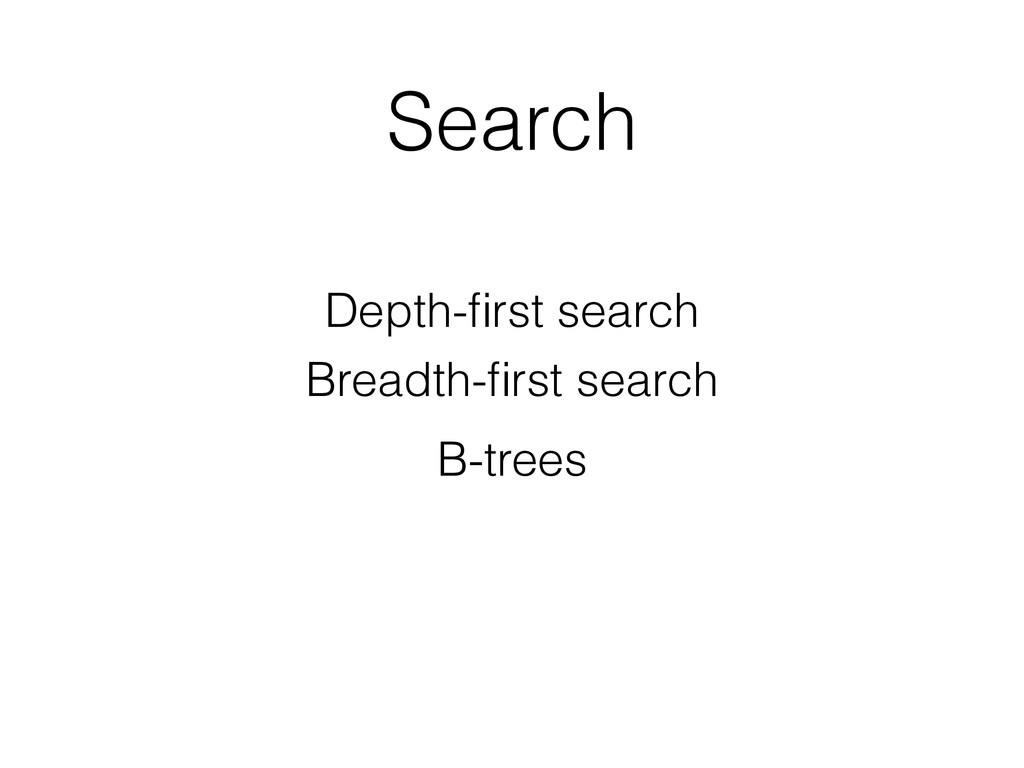 Search Depth-first search Breadth-first search B-...