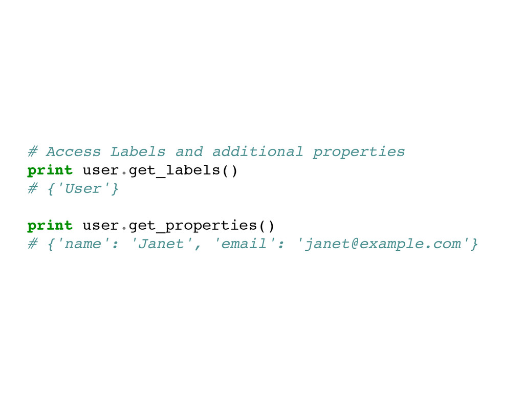 # Access Labels and additional properties! prin...