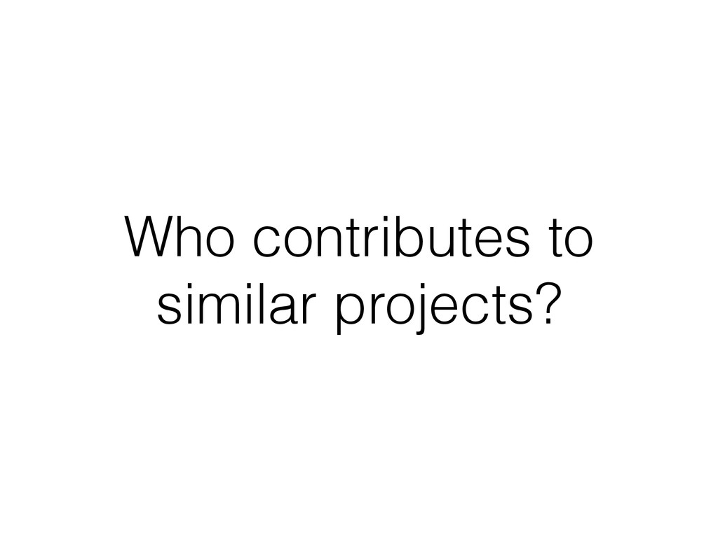 Who contributes to similar projects?