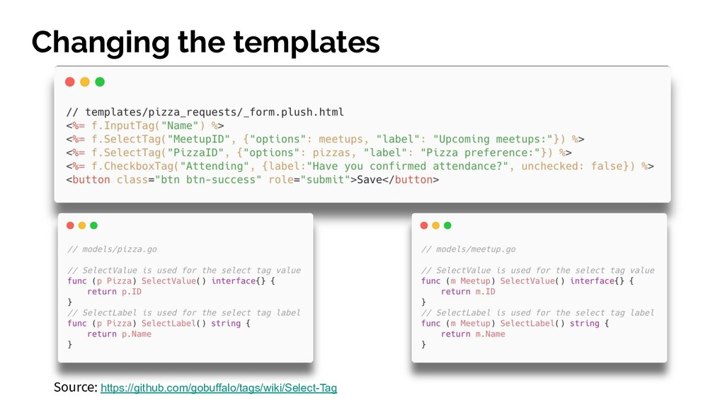 Changing the templates Source: https://github.c...